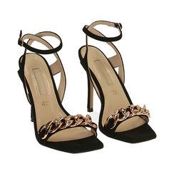 Sandales noires en microfibre, talon de 10,5 cm, Primadonna, 172114221MFNERO036, 002 preview