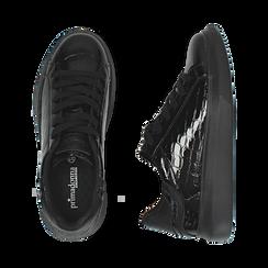 Sneakers noires en vernis, Primadonna, 162602011VENERO035, 003 preview