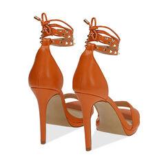 Sandali lace-up arancio, tacco 11 cm, Primadonna, 172133431EPARAN036, 004 preview