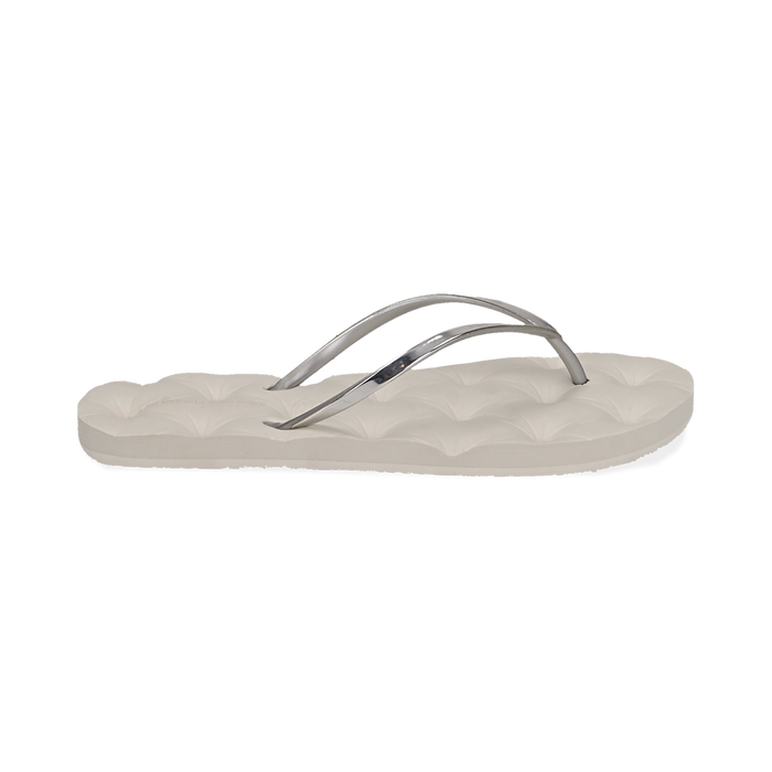 Ciabatte infradito argento in pvc, Chaussures, 15J370785PVARGE036