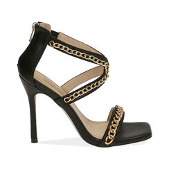 Sandali neri, tacco 11 cm , Primadonna, 172114217EPNERO035, 001 preview