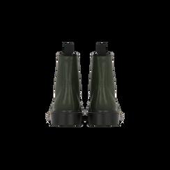 Anfibi verdi con lacci, tacco basso, Scarpe, 122801501EPVERD036, 003 preview