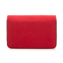 Borsetta rossa in microfibra con chiusura effetto specchio, Borse, 135701124MFROSSUNI, 003 preview