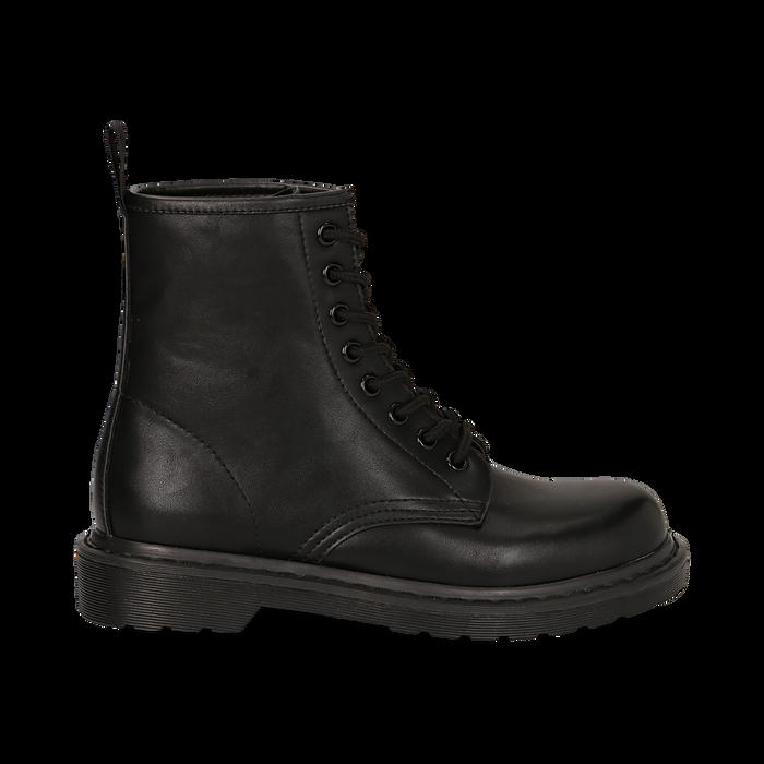 Botas militares en color negro, Primadonna, 162801501EPNERO035