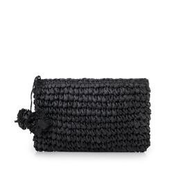 Pochette mare nera in paglia intrecciata, Primadonna, 134504239PGNEROUNI, 001a