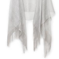 Poncho argento in tessuto laminato , Abbigliamento, 13B445057LMARGEUNI, 002a
