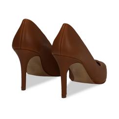 Décolleté cuero de piel, tacón 9 cm, Zapatos, 15D601001VICUOI036, 004 preview