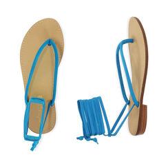 Sandales à lacets en lycra turquoise, Primadonna, 174982380LYTURC035, 003 preview