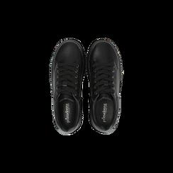Sneakers nere effetto mirror e suola nera, Scarpe, 129312321EPNERO, 004 preview
