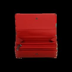Portafoglio rosso in ecopelle, Saldi, 122200898EPROSSUNI, 004 preview