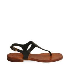 Sandales noir en cuir de vache, Primadonna, 177239378VANERO035, 001a