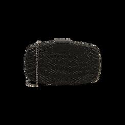 Clutch gioiello nera in microfibra, IDEE REGALO, 165109596MPNEROUNI, 001 preview