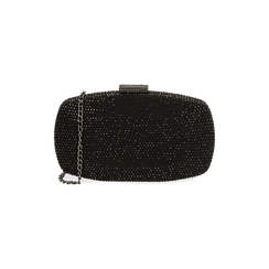 Clutch bijou noir en microfibre, IDEE REGALO, 165109596MPNEROUNI, 001 preview