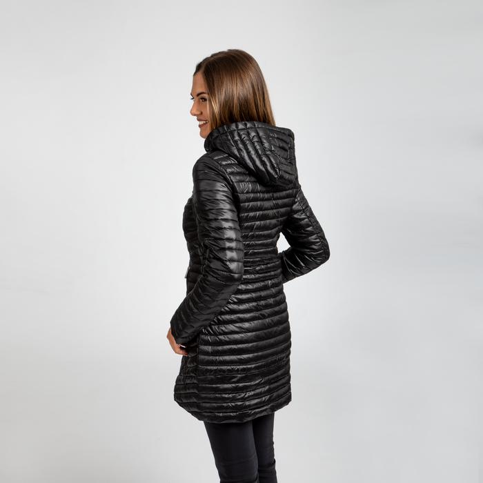 online retailer 601a5 8071a Piumino lungo nero con cappuccio
