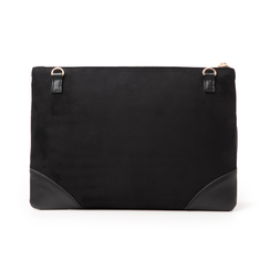 Pochette nera in microfibra, Borse, 145122216MFNEROUNI, 003 preview