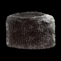 Colbacco nero in pelliccia, Saldi Abbigliamento, 12B413001FUNEROXXL, 001 preview