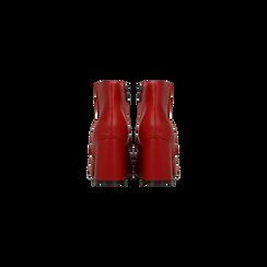 Tronchetti rossi, tacco 7,5 cm, Scarpe, 122182021EPROSS, 003 preview