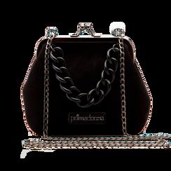 Pochette vintage in nero, Saldi Borse, 122701280MFNEROUNI, 001 preview