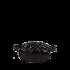 Marsupio nero in tessuto , IDEE REGALO, 165108872TSNEROUNI, 001a