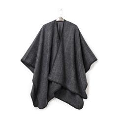 Poncho grigio in tessuto , Abbigliamento, 14B400006TSGRIGUNI, 003 preview