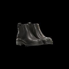 Chelsea Boots neri, lavorazione Duilio, Scarpe, 120618206EPNERO040, 002 preview