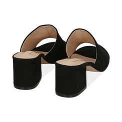 Mules nere in microfibra, tacco 5,50 cm , Scarpe, 152770341MFNERO036, 004 preview