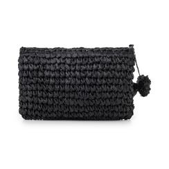Pochette mare nera in paglia intrecciata, Primadonna, 134504239PGNEROUNI, 003 preview