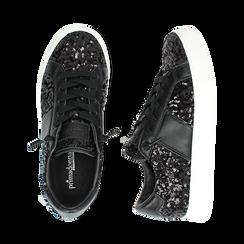 Zapatillas color negro con lentejuelas , Primadonna, 162619071PLNERO035, 003 preview