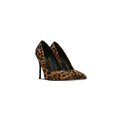 Décolleté leopard con punta affusolata, tacco stiletto 11 cm, Scarpe, 122146861MFLEOP035, 002