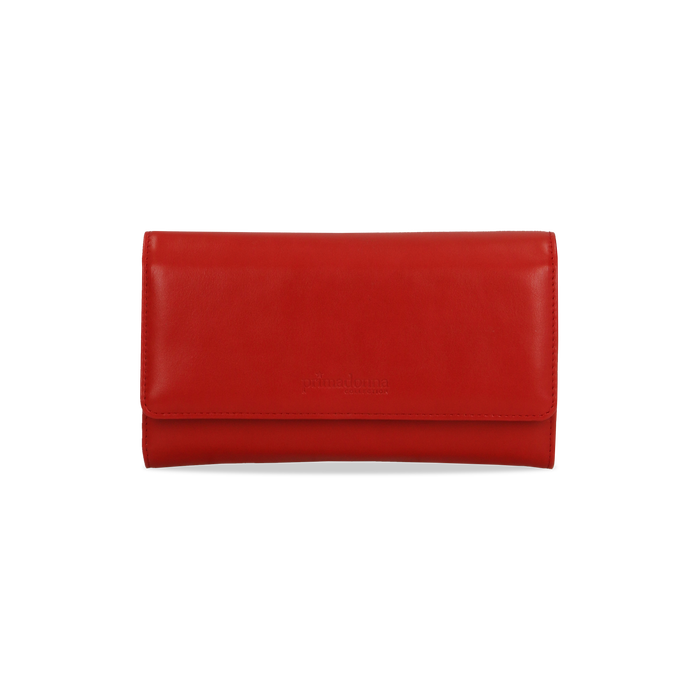 Portafoglio rosso in ecopelle, Borse, 122200898EPROSSUNI