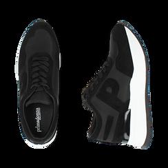 Sneakers nere in tessuto tecnico, suola 5,50 cm , Scarpe, 142898983TSNERO039, 003 preview