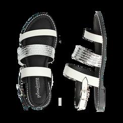 Sandali bianchi in eco-pelle, Saldi, 113006512EPBIAN036, 003 preview
