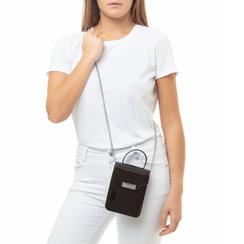 Mini-bag nera in pvc, Primadonna, 137400908PVNEROUNI, 002a