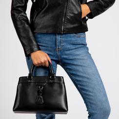 Mini-bag nera in ecopelle, Primadonna, 121818007EPNEROUNI, 006 preview