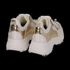 Dad shoes en eco-piel color blanco/dorado, Zapatos, 15K429169EPBIOR036, 004 preview