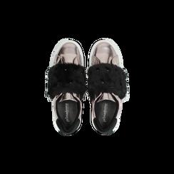 Sneakers canna di fucile Slip-on con dettagli faux-fur e borchie, Scarpe, 126103025SPCANN, 004 preview