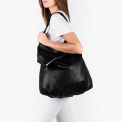 Maxi-bag nera in eco-pelle, Primadonna, 151990171EPNEROUNI, 002a
