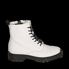Botas militares de piel en color blanco, Primadonna, 157710831PEBIAN035, 001a