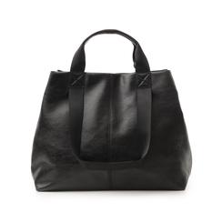 Maxi-bag nera in laminato, Borse, 132384211LMNEROUNI, 003 preview