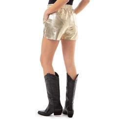 Shorts oro laminato , Primadonna, 176530100LMOROGL, 002a