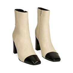 Ankle boots panna, tacco 8,5 cm , Primadonna, 184848302EPPANN035, 002 preview