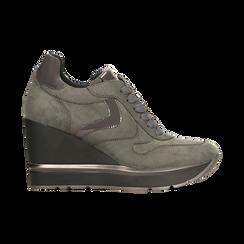 Sneakers grigie con zeppa platform, Scarpe, 122808661MFGRIG, 001 preview