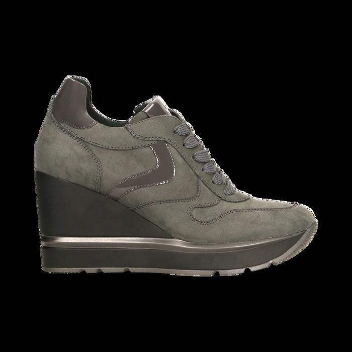 Sneakers grigie con zeppa platform, Scarpe, 122808661MFGRIG