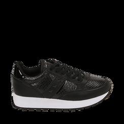 Zapatillas color negro estampado  víbora, Primadonna, 162619079EVNERO036, 001a