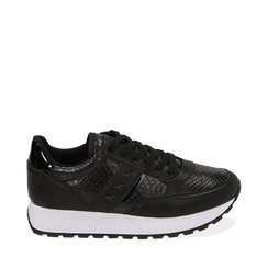 Sneakers noires imprimé vipère, Primadonna, 162619079EVNERO036, 001a