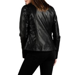 Veste de motard noir en simili-cuir , Primadonna, 156501203EPNEROS, 002a
