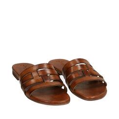 Sandales cognac en cuir de vache, Primadonna, 177249150VACOGN036, 002a