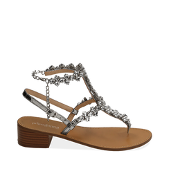 WOMEN SHOES SANDAL LAMINATED ARGE, Chaussures, 154989170LMARGE035, 001a
