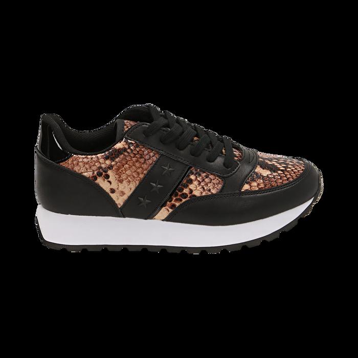 Zapatillas marrón estampadas piton, Primadonna, 162619079PTMARR035