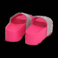 Ciabatte platform fucsia in pvc, suola 5 cm , Zapatos, 154700072PVFUCS039, 004 preview